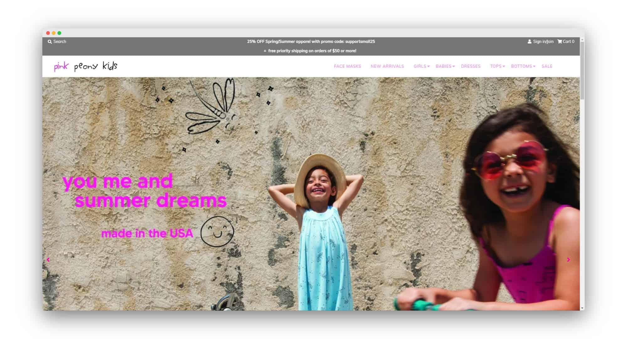 Pink Peony Kids DTC Brands