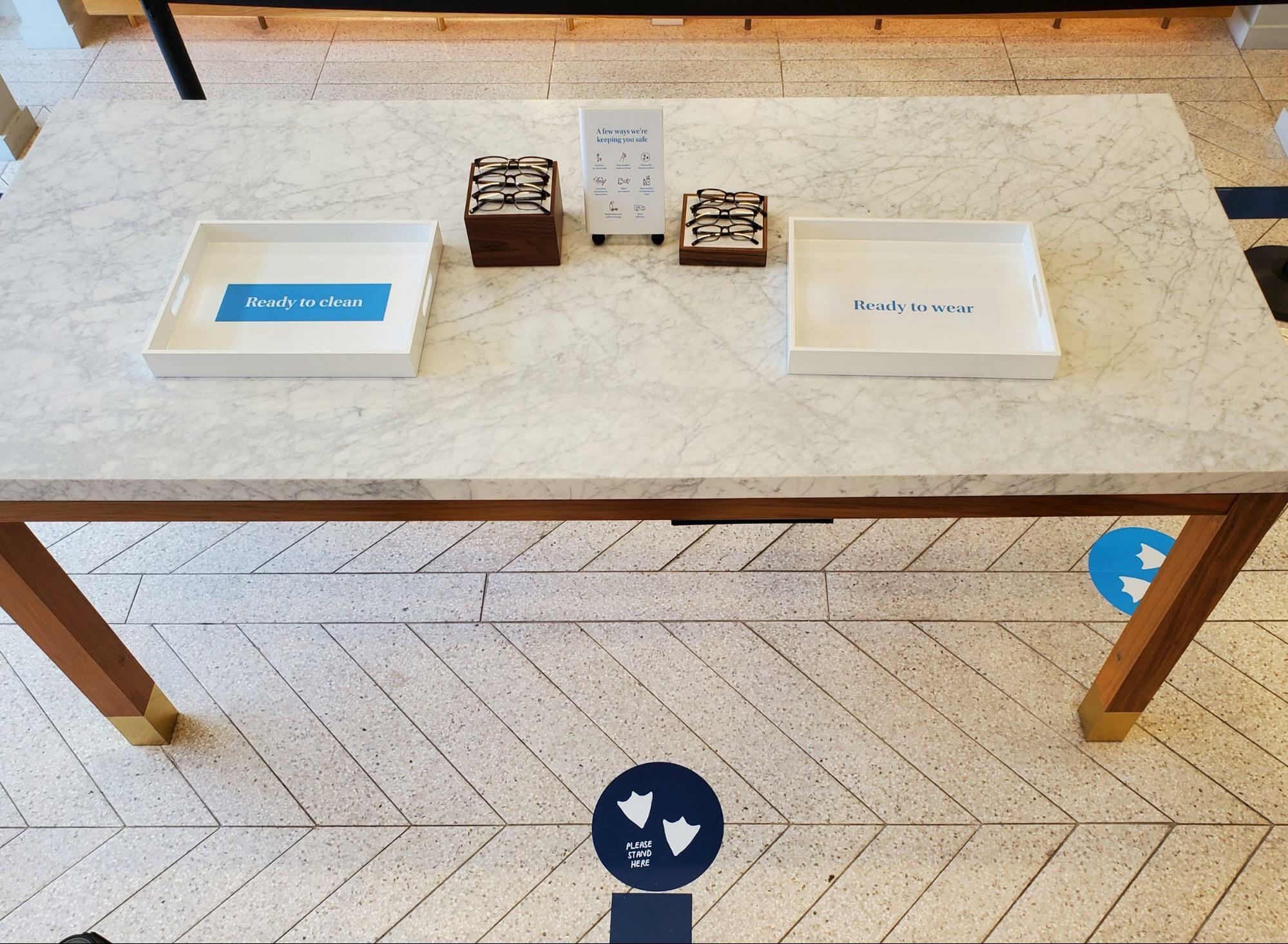 Warby Parker now sanitizes every pair of frames after a customer has tried them on