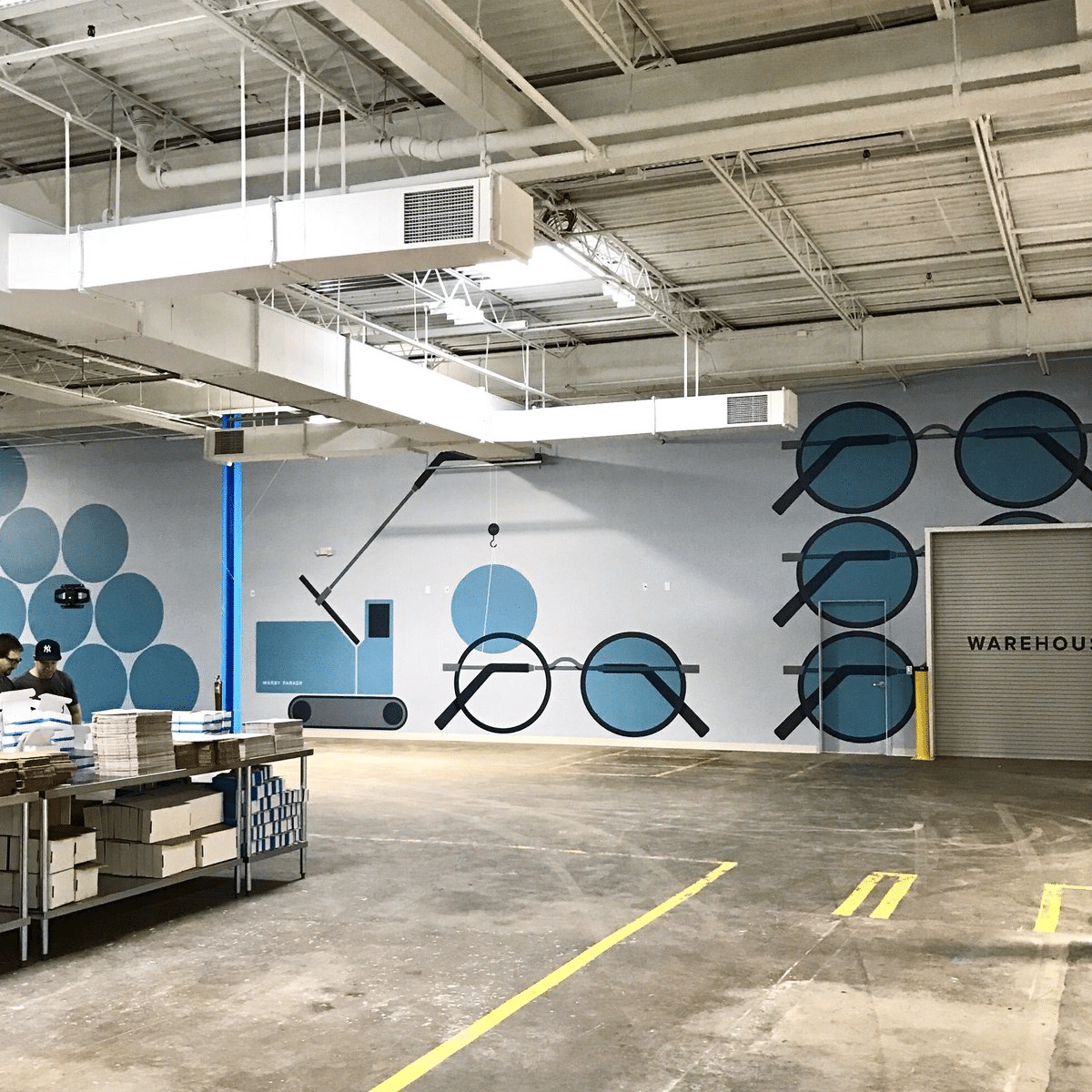 Warby Parker's optical lab facility in New York was deemed an essential business during COVID-19