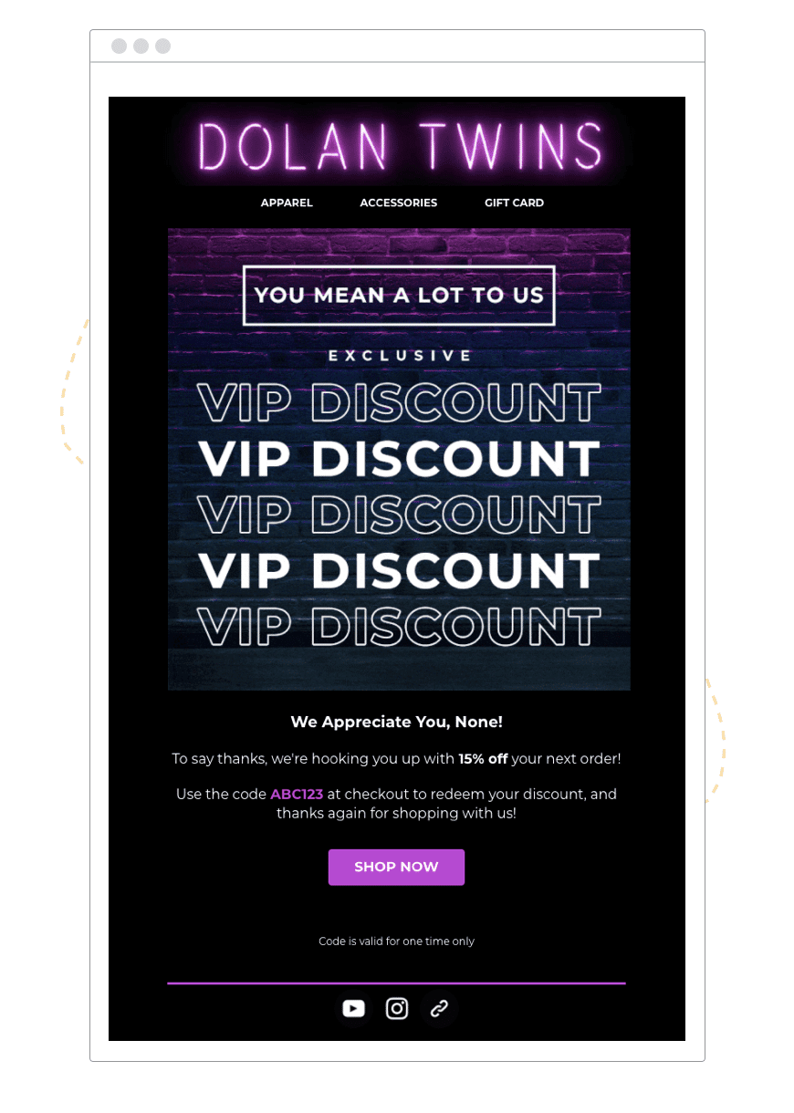 Dolan Twins VIP discount example   hive.co  1