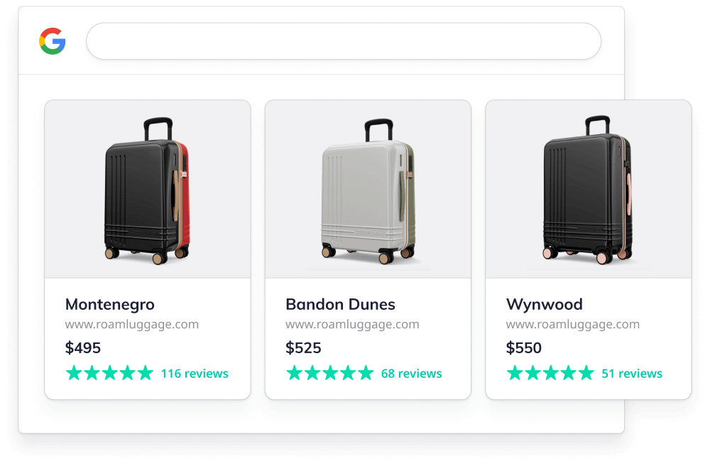 Google Shopping results for ROAM Luggage