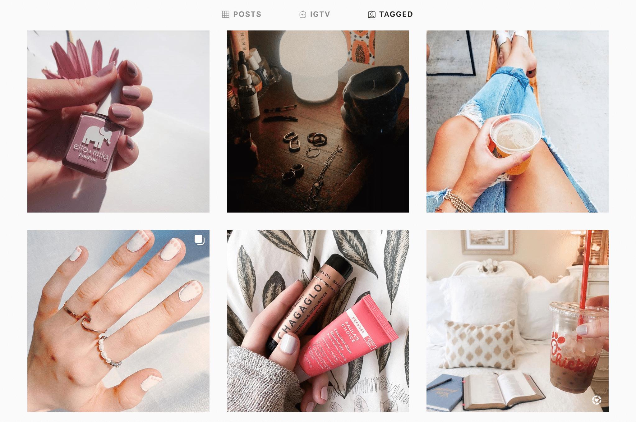 Ella + Mila Tagged Instagram Section
