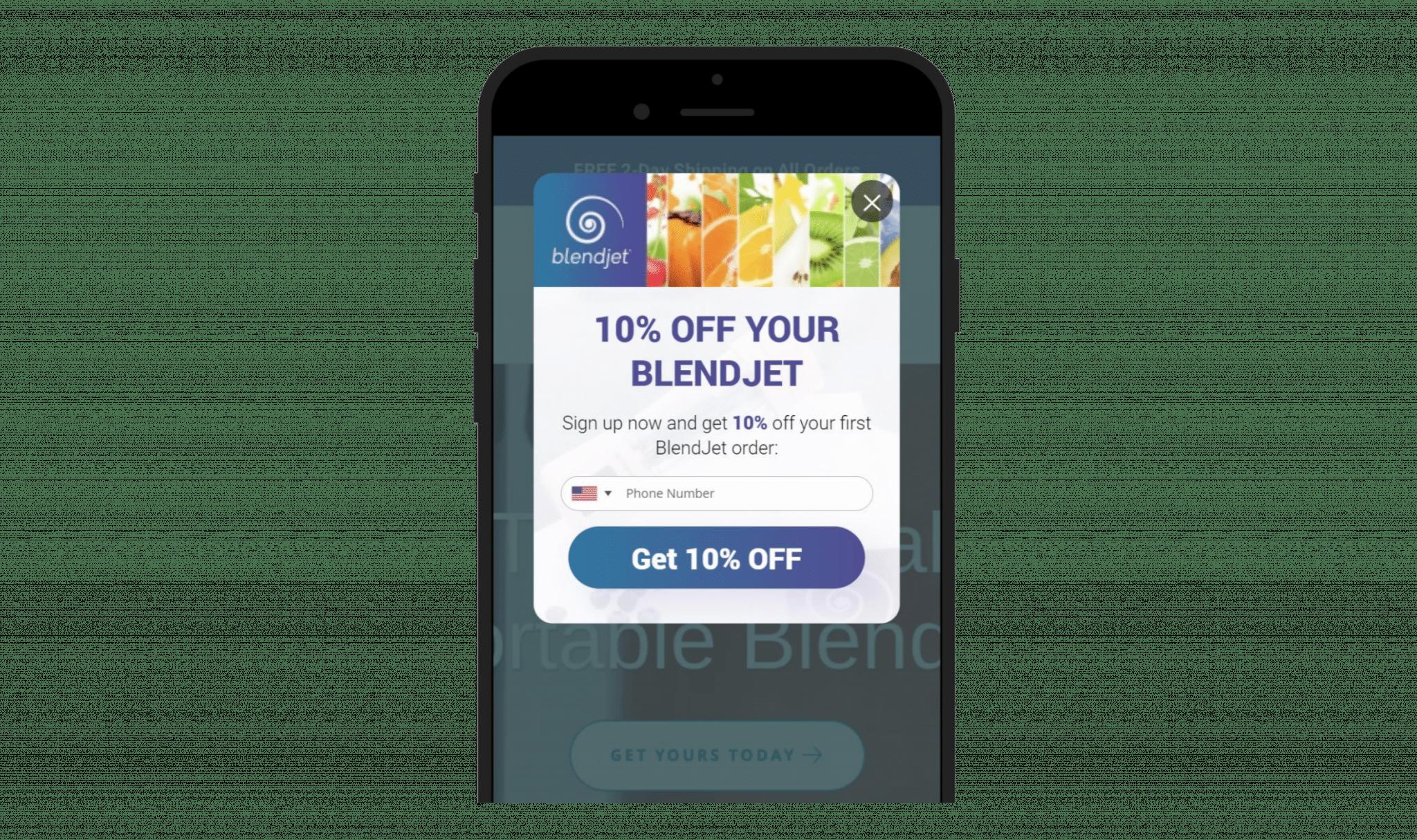 Optimonk_blendjet_mobile_popup_SMSBump