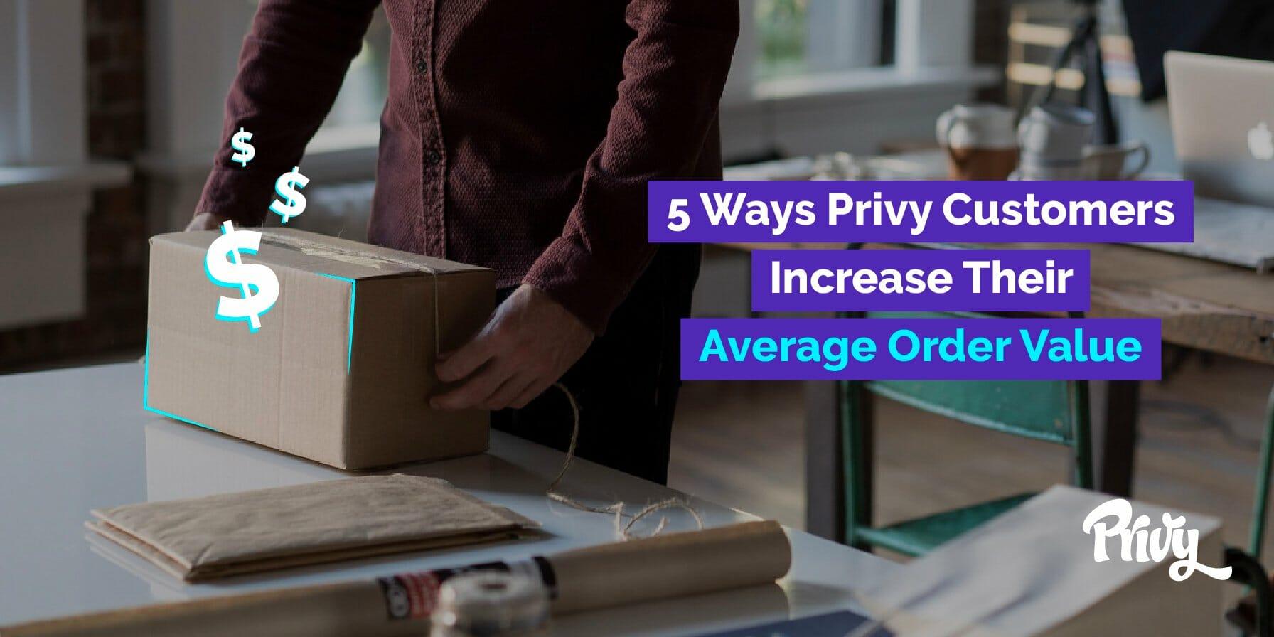 Increase Average Order Value Shopify