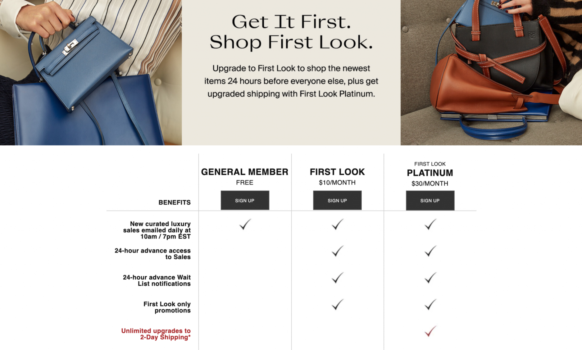 The RealReal consignment membership subscription