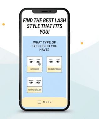 Doe Lashes Quiz on Mobile