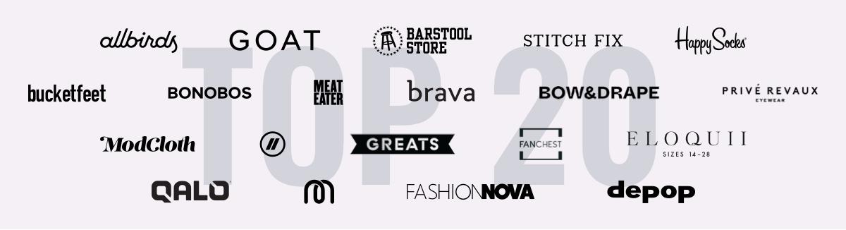 Top 20 Apparel & Accessories Digitally Native Brands