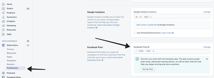 Add Facebook pixel to Shopify store