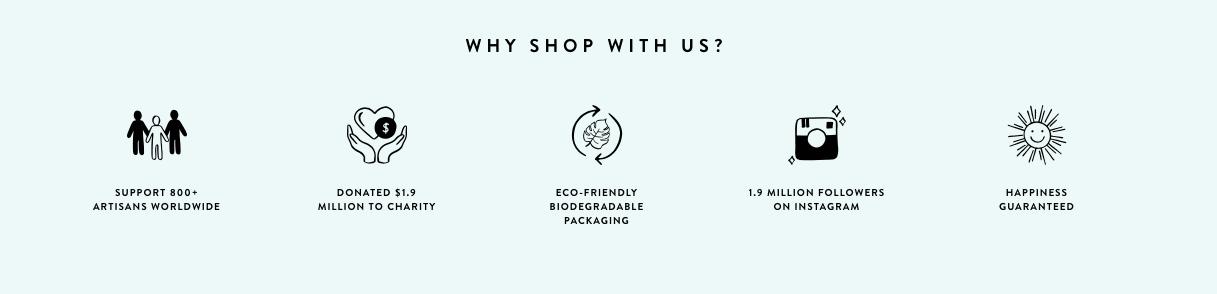 Pura vida - why shop with us