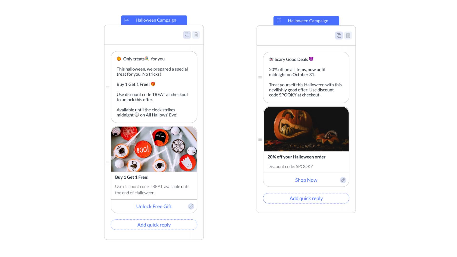 halloween sponsored message templates