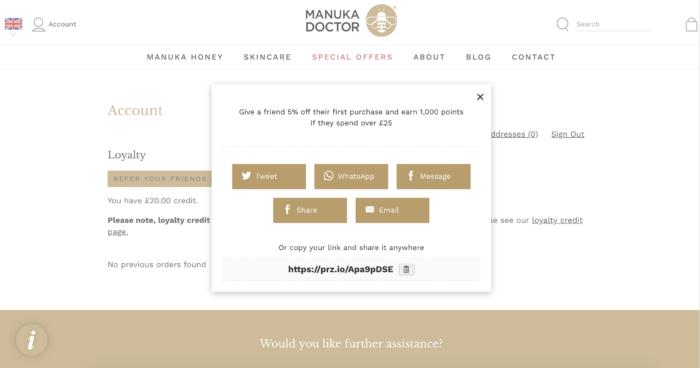 Manuka Honey Referrals 1