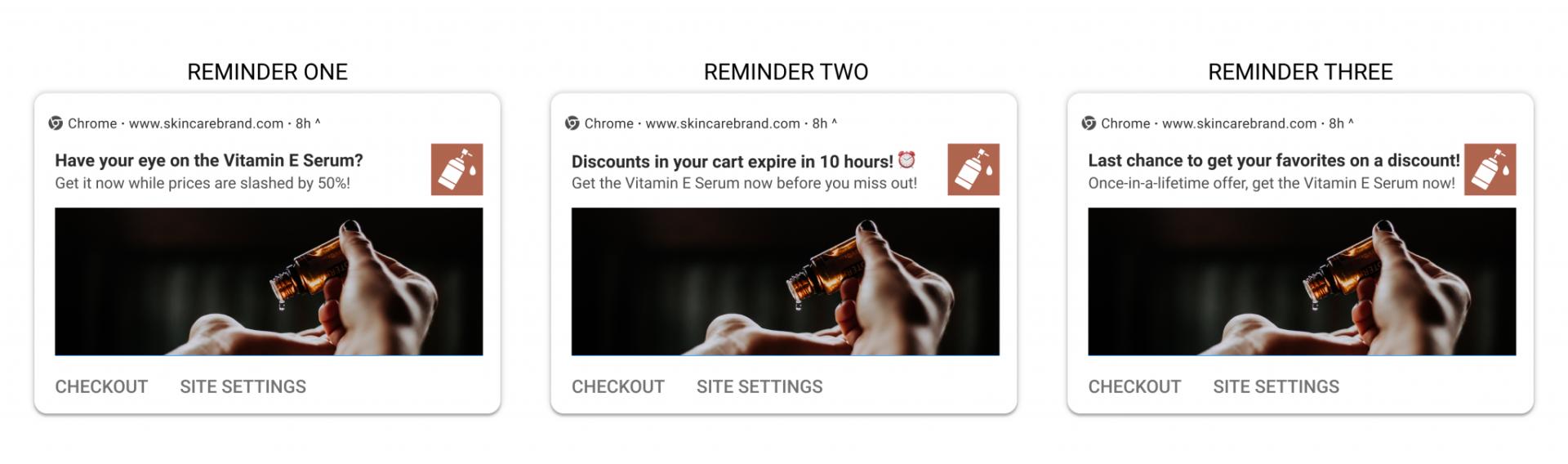 Black Friday marketing - cart recovery