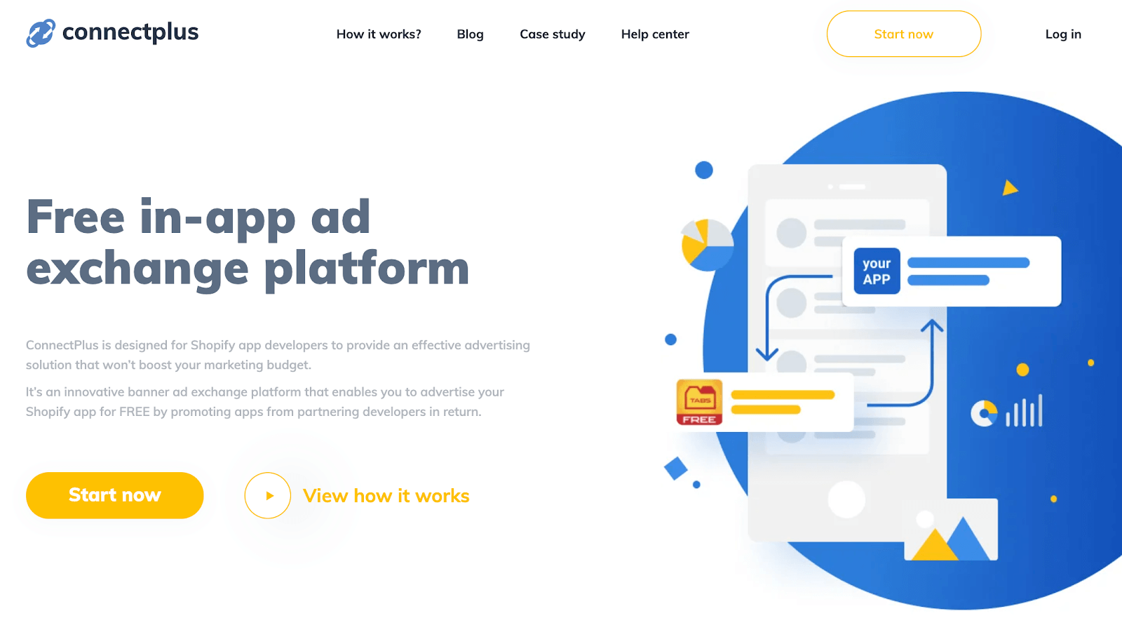 Connectplus homepage for Shopify partners